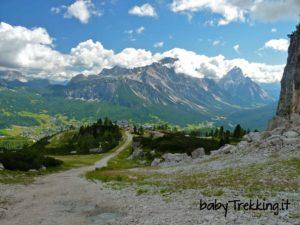 Rifugio Duca d'Aosta: col passeggino vista Cortina