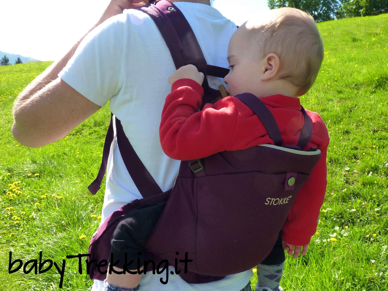 Sulle spalle di papà: trekking col marsupio Stokke MyCarrier