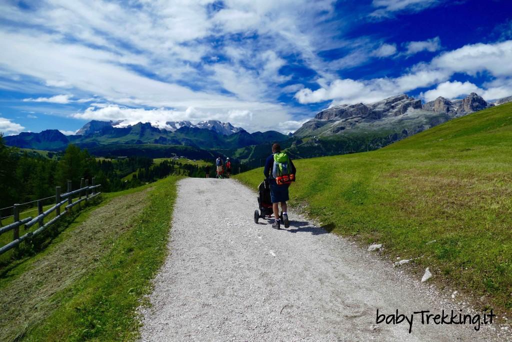 Da Piz la Ila a Utia de Bioch, Alta Badia a portata di passeggino