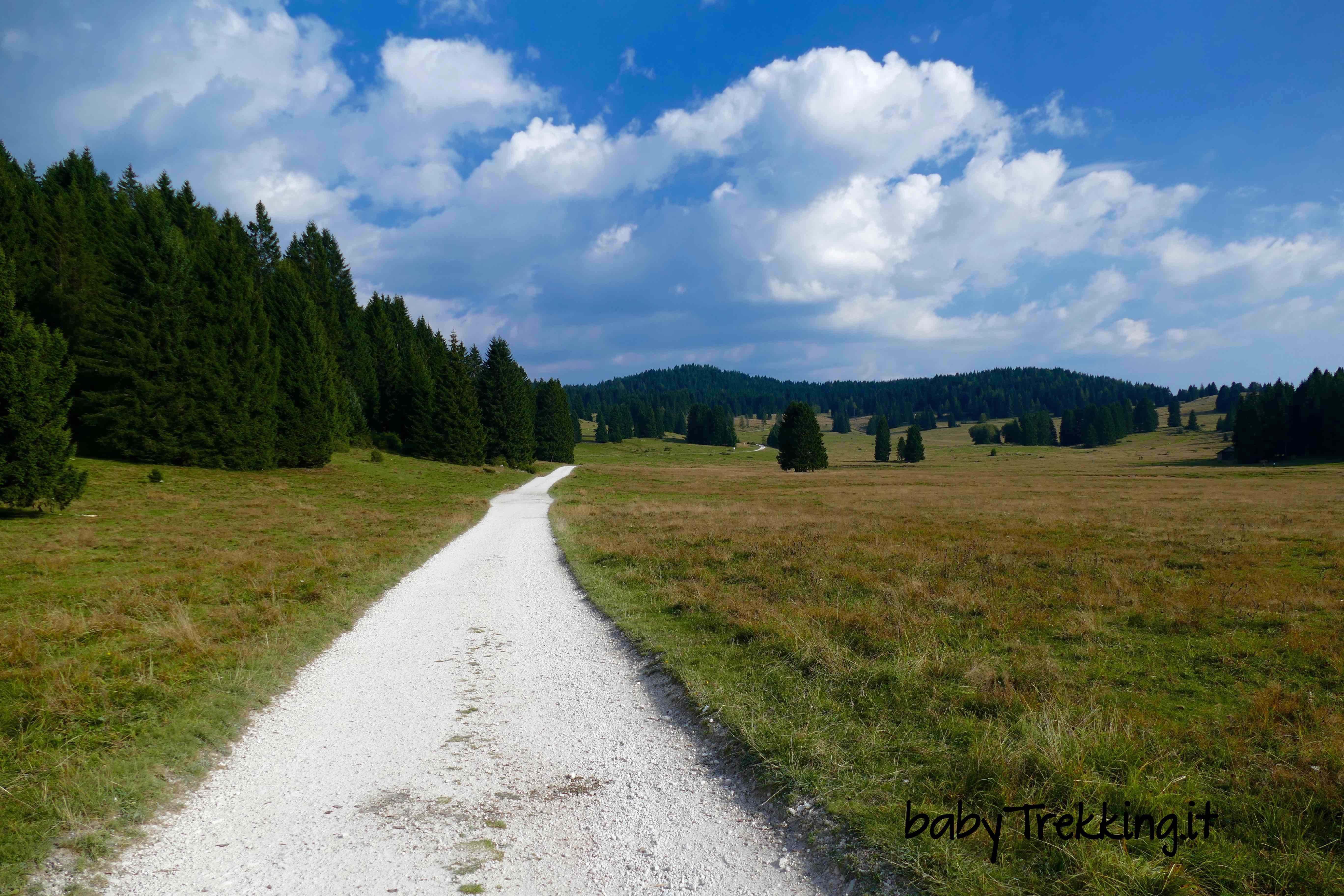 Forte Campo Luserna da Malga Millegrobbe: l'Alpe Cimbra in passeggino