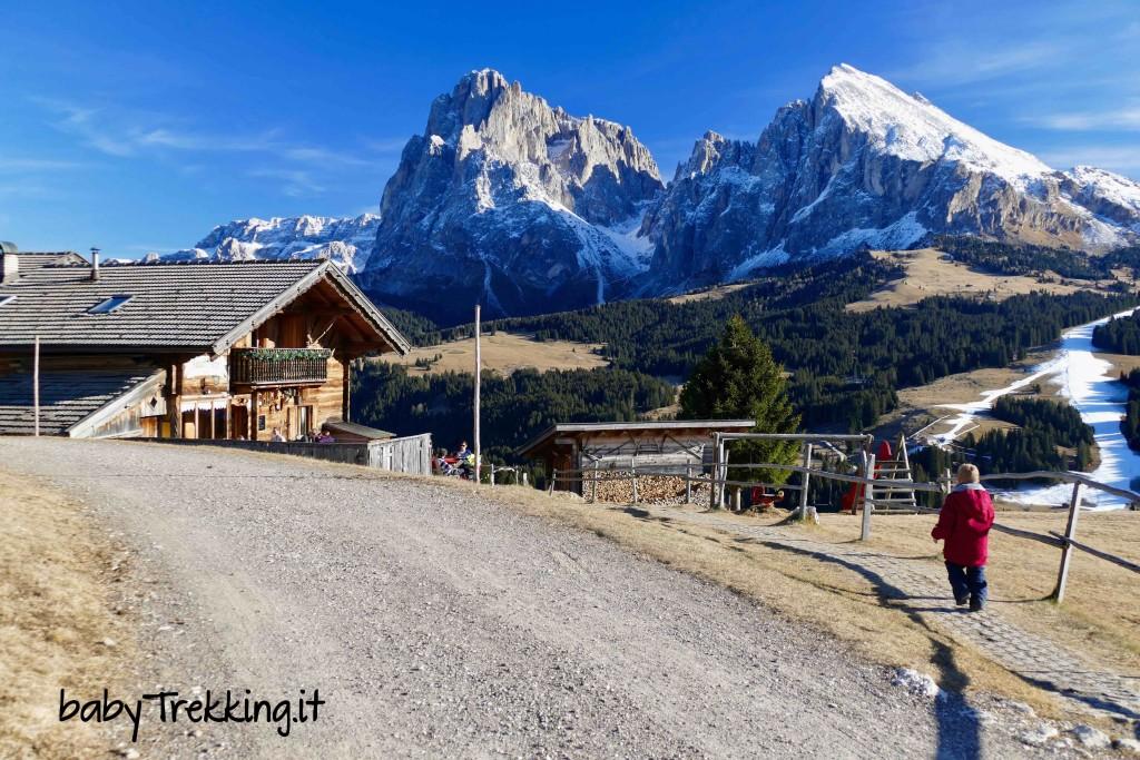 Rauchhutte, Alpe di Siusi a portata di passeggino (e che panorami!)