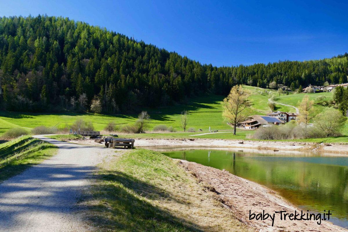 Ai laghetti di Ruffrè in passeggino: coi bambini lungo il sentiero Dria al Fos
