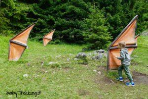 Bambini a caccia di alati animali nella foresta dei draghi in Val di Fiemme!