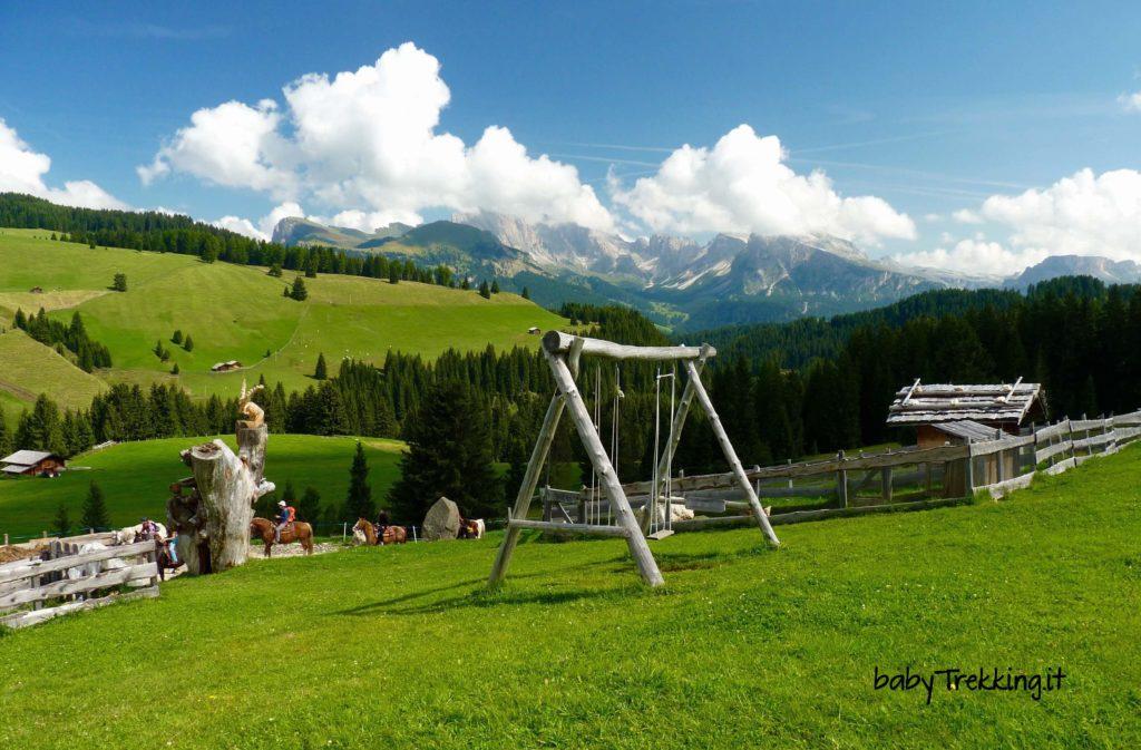 Da Monte Pana a Saltner Schwaige: coi bambini tra Val Gardena e Alpe di Siusi