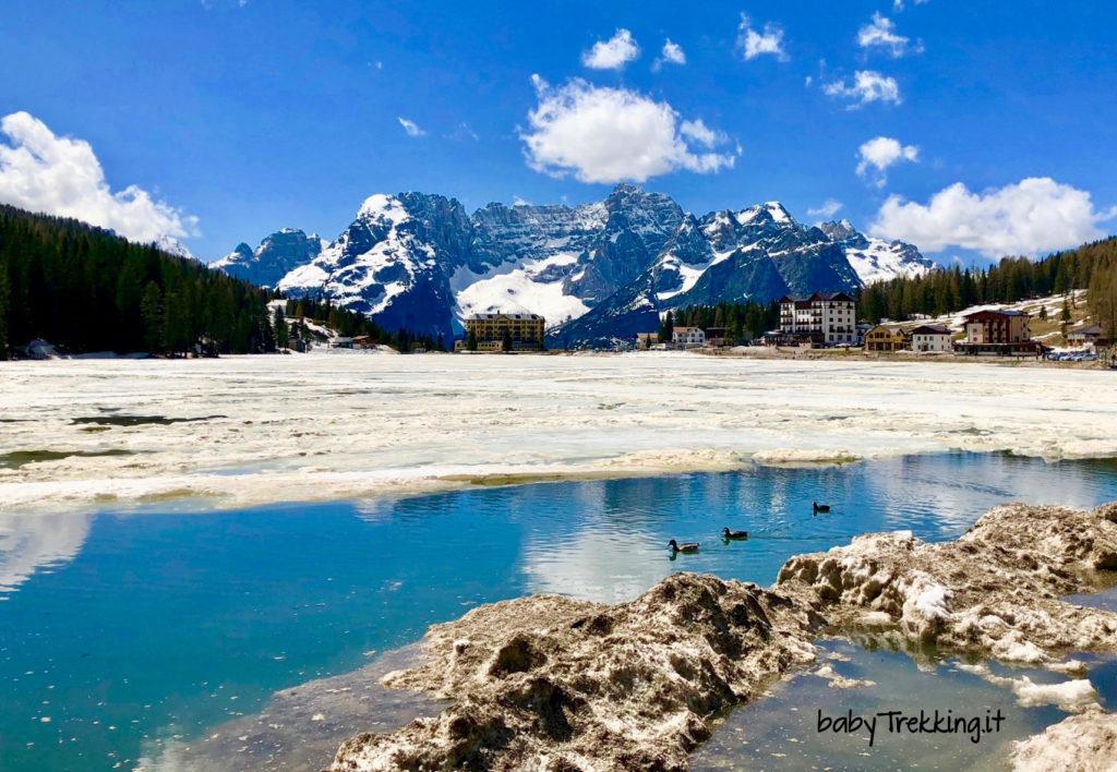 Il giro del lago di Misurina col passeggino e la leggenda di Re Sorapiss