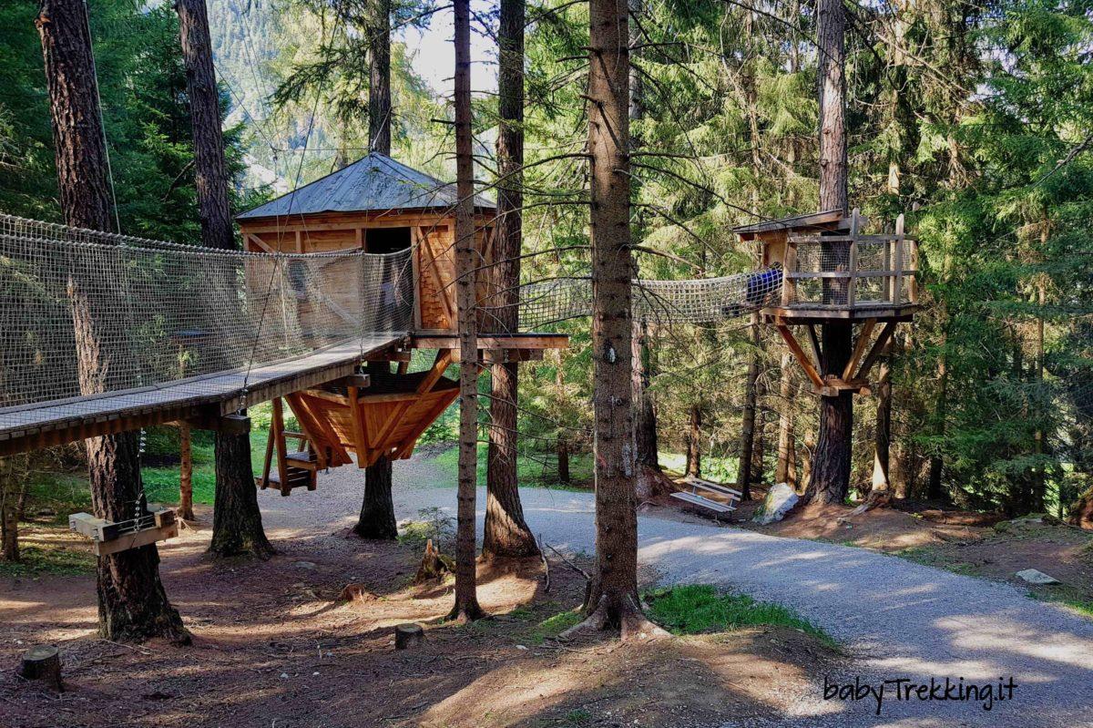 Sul sentiero delle case sugli alberi in Valle dello Stubai