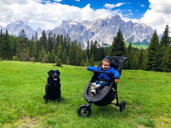 Bambini e cani in montagna