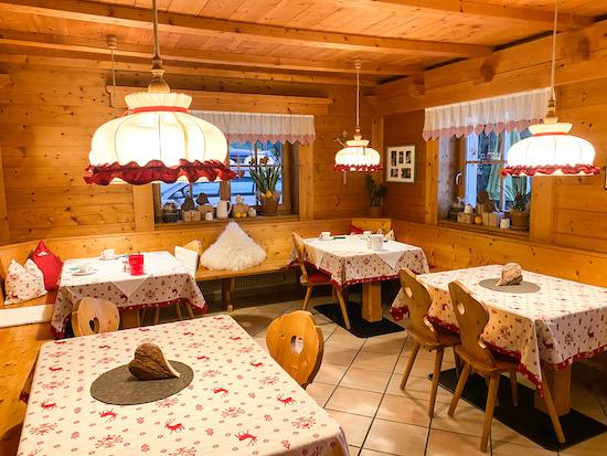sala colazioni maso Falentorhof