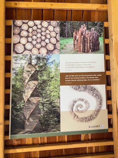 Pannello illustrativo legno e arte
