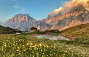 La bellezza delle Pale col passeggino: baita Segantini