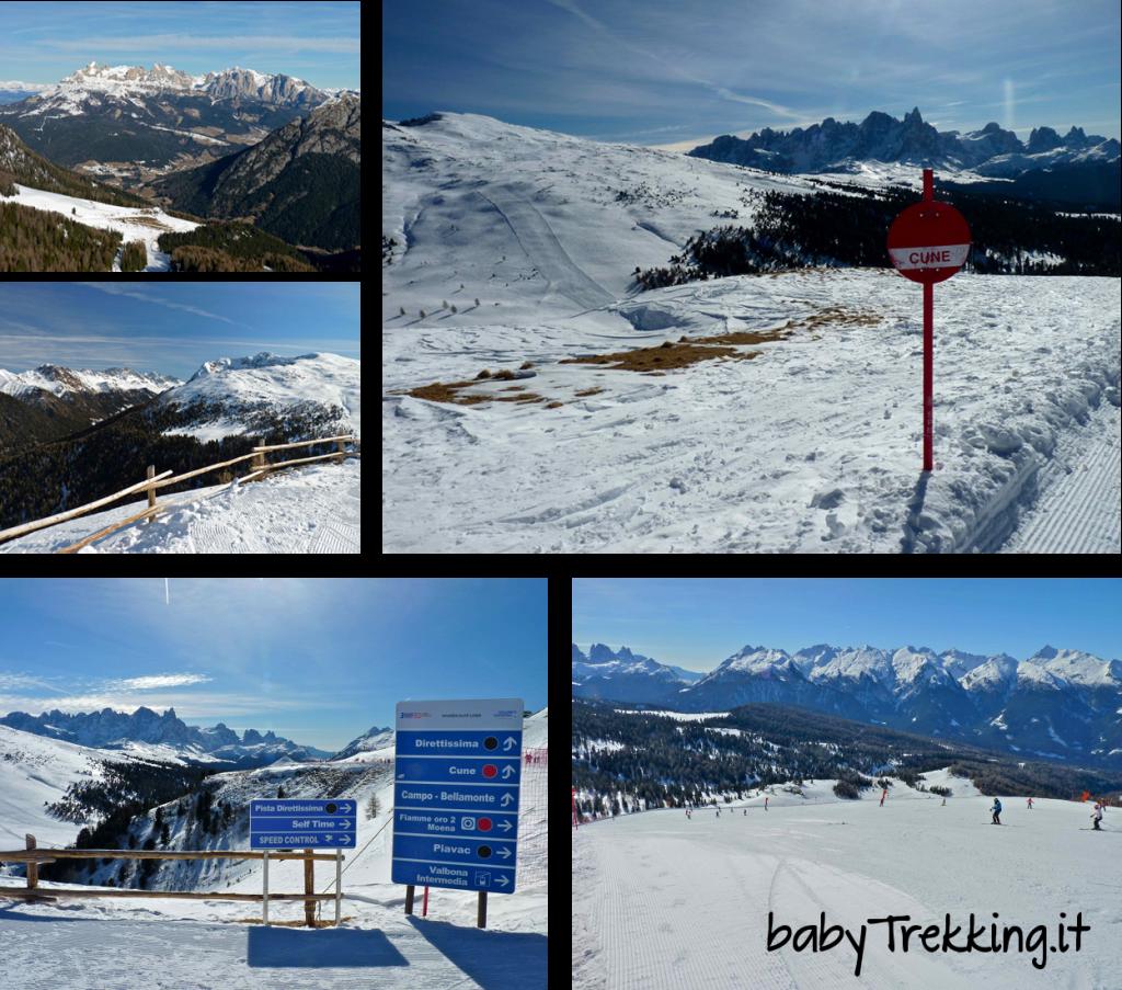 Divertimento per bambini e genitori alla skiarea Alpe Lusia