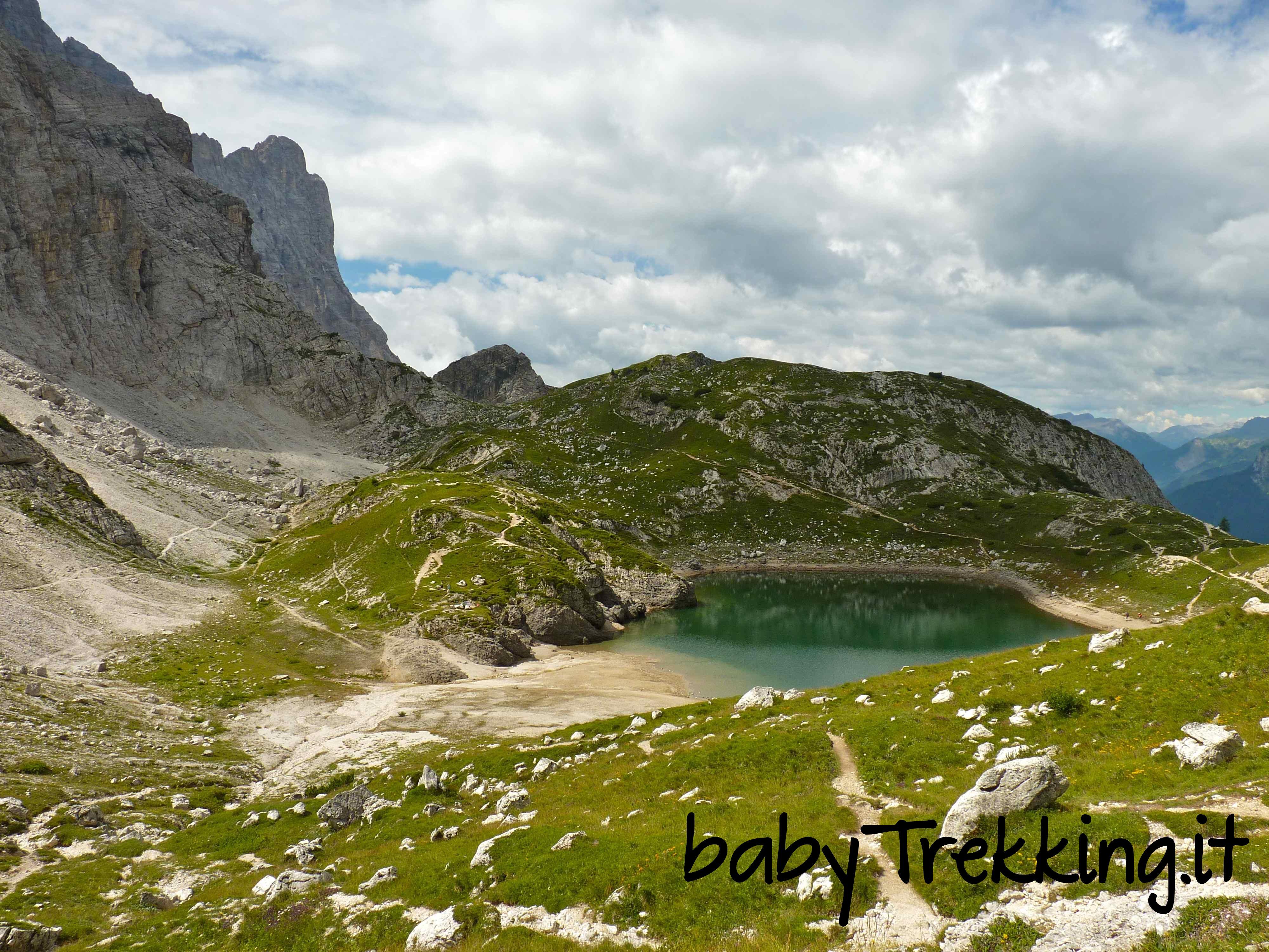 Rifugio e Lago Coldai, trekking coi bambini sotto al Civetta