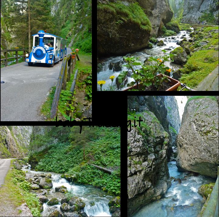 Col passeggino nel canyon dei Serrai di Sottoguda