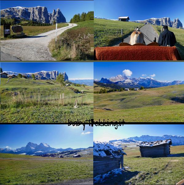Sull'Alpe di Siusi col passeggino: coi bambini al Rifugio Edelweiss e Almrosenhutte