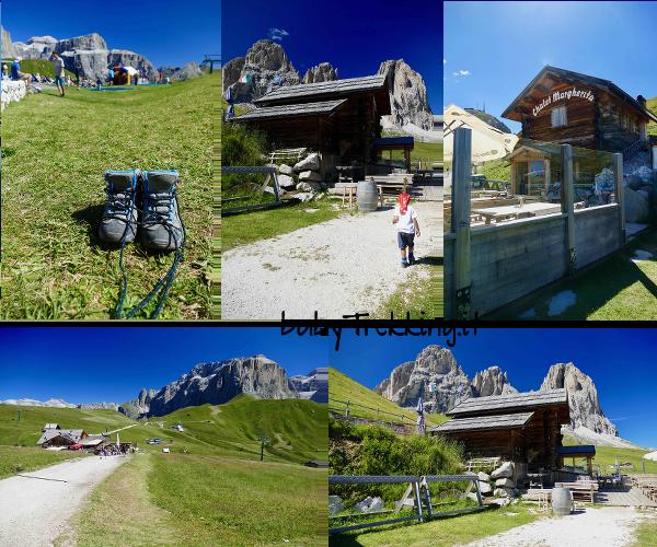 Da Passo Sella al Rifugio Friedrich August, col passeggino tra stupendi panorami