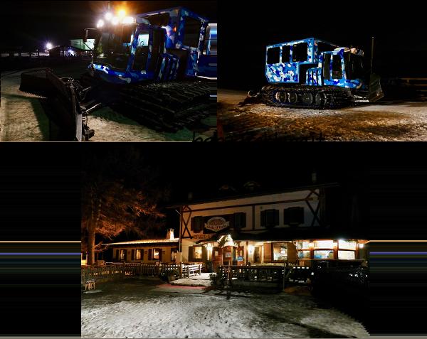 Al Rifugio Stella d'Italia col gatto delle nevi: cena in baita sull'Alpe Cimbra!