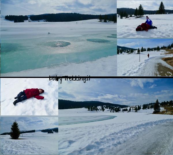 Al lago coe in inverno coi bambini, relax passeggiate e sleddog tra la neve