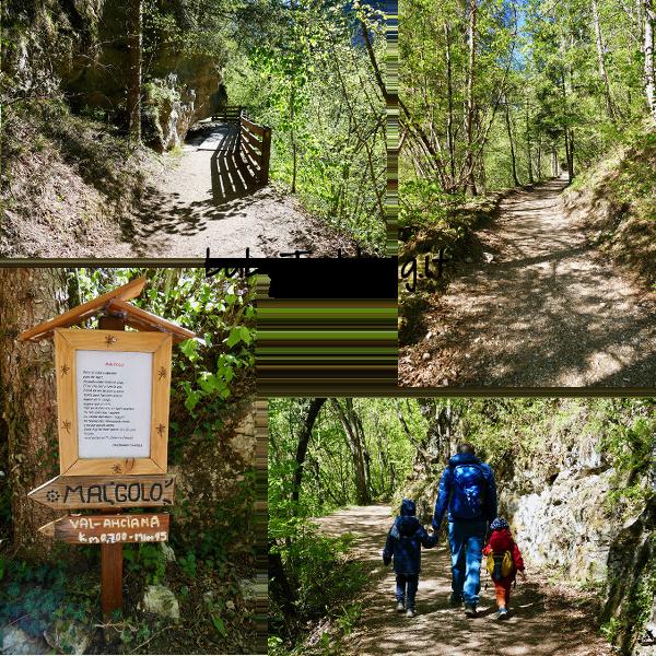 Coi bambini al Santuario di San Romedio lungo il sentiero scavato nella roccia