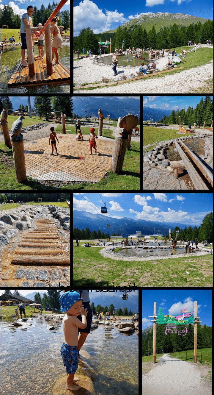 Giro d'Ali, meravigliosi giochi d'acqua per bimbi sull'Alpe Lusia