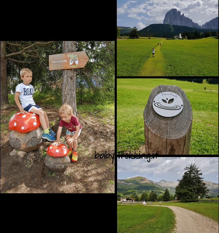 Panaraida, sentiero tematico per bambini e passeggino nella splendida Val Gardena