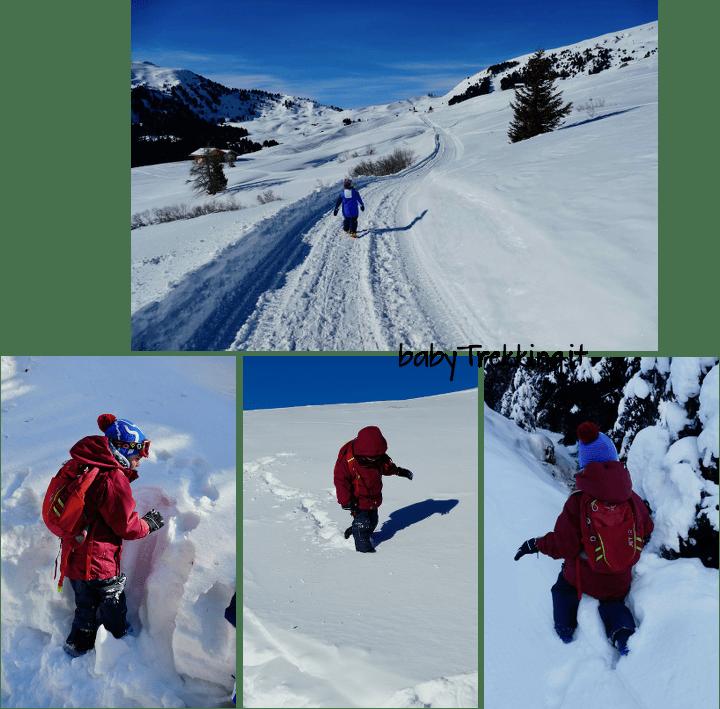 Escursioni invernali in famiglia: a ciascuno la sua scarpa
