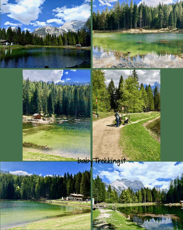 Lago di Pianozes: col passeggino sopra Cortina tra le Dolomiti d'Ampezzo